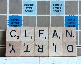 Scrabble Clean/Dirty Dishwasher Magnet, Clean and Dirty Magnet