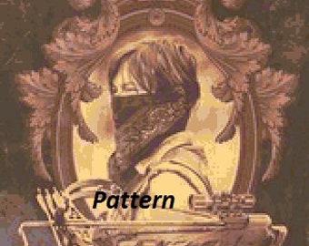 Daryl Dixon #4. Cross Stitch Kit.