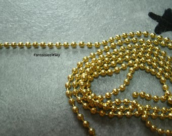 (CH1) Ball chain 2mm gold metal by 50cm
