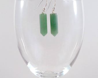 Green Aventurine Earrings Gemstone Earrings Green Aventurine Silver Earrings Green Aventurine Gemstone Earrings Aventurine Drop Earrings