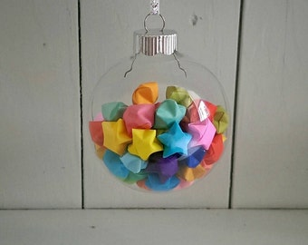 Small Multi-color Origami Star Ornament