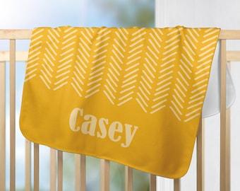 "Personalized Minky Baby Blanket 30""x40"" - Custom Minky Blanket - Baby Shower gift - Newborn Gift - Stroller Blanket - Baby Name Blanket"