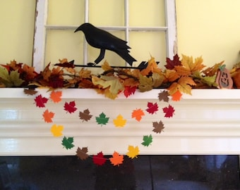 Fall Decoration Fall Leaves Paper Garland Thanksgiving Decoration Autumn Decor Fall Wedding Decoration 6ft or 10ft Autumn Harvest