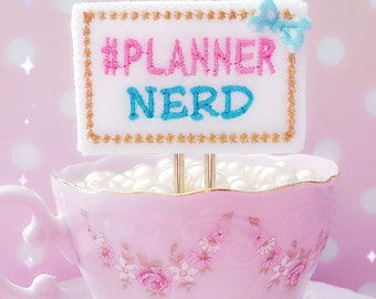 Planner Clip : PLANNER NERD Words felt PaperClip | Page Clip | Bookmark Page Marker. Planner accessories supply