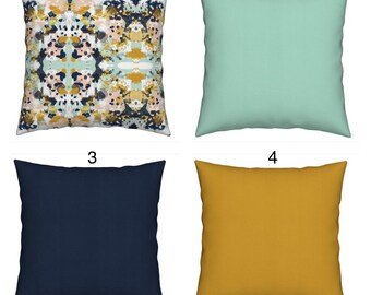 Abstract mustard cushions abstract pillow scatter pillows cushions cover mustard throw pillow garden cushion