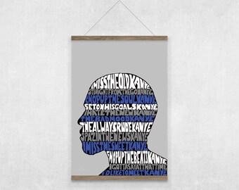 Kanye West I Love Kanye Lyrics Blue Illustrated Poster Print | A6 A5 A4 A3
