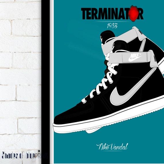 Terminator / Nike Vandal movie poster - 1985