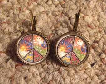 Peace Sign Image Earrings