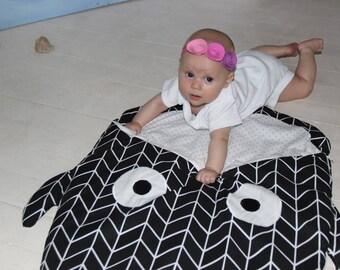Baby blanket baby shower gift newborn blanket stroller blanket baby boy blanket fish blanket black blanket whale blanket baby girl blanket