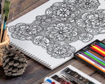 GROOVY FLOWERS: A Printable Adult Coloring Page