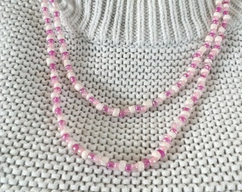 Pink and White necklace