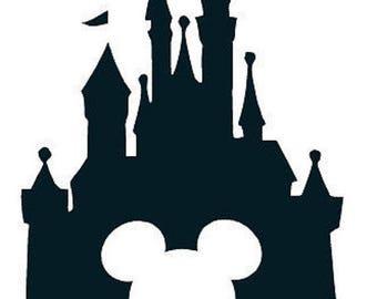Disney Cinderella's Castle Mickey Ears SVG Cricut Silhouette Vinyl