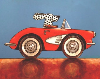 "032 Corvette – print 21x21cm/8.5x8.5"""