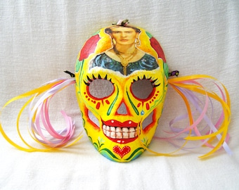 Dia de los Muertos Day of the Dead Mask - Hand Crafted - Hand Painted - One of a Kind