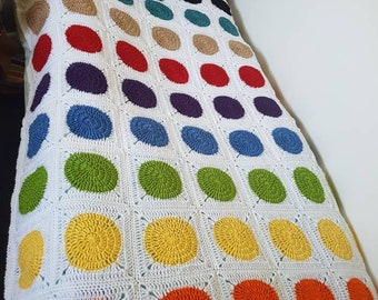 hand made crochet single bed blanket