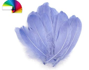10 Decorative Goose Feathers length 15-21 cm