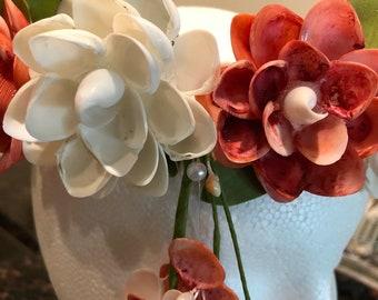 Wedding seashells wreath
