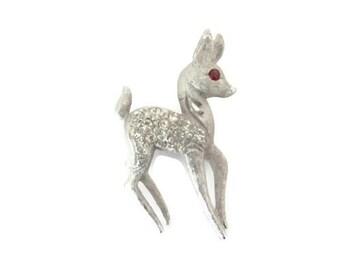 Vintage Deer Brooch, Pin, 1960's Mamselle Deer Brooch, Pin, Silver Deer Brooch, Animal Brooch, 1960's Brooch, Jewelry