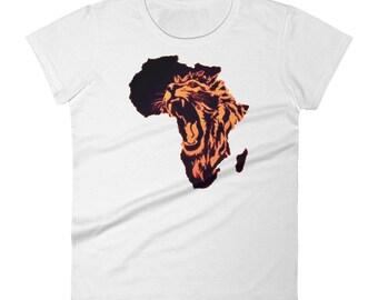 Africa Lion Roaring Women's short sleeve t-shirt