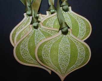 Vintage Inspired Christmas Ornament Gift/Wish Tree Tag