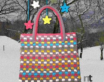 "Crochet Bag Pattern ""Sportina Tegoline"" by NTmaglia, Crochet Purse Pattern, Crochet Tote Pattern downloadable .pdf"