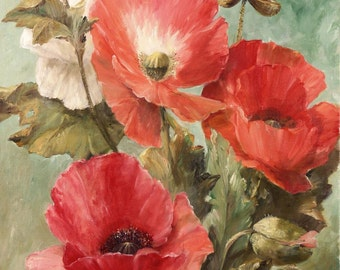 Super Giclée's of  Big flower paintings popies