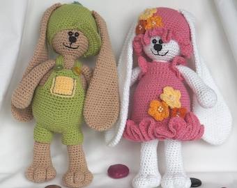 Crochet bunnies Arzi & Judi