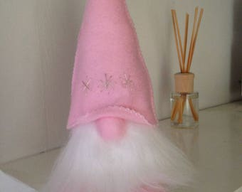 Tomte - Scandinavian Gnome - Folklore Creature - Felt and Fur Decoration.