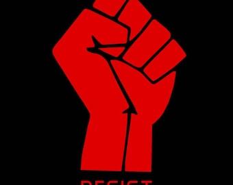 Resist 1-inch button