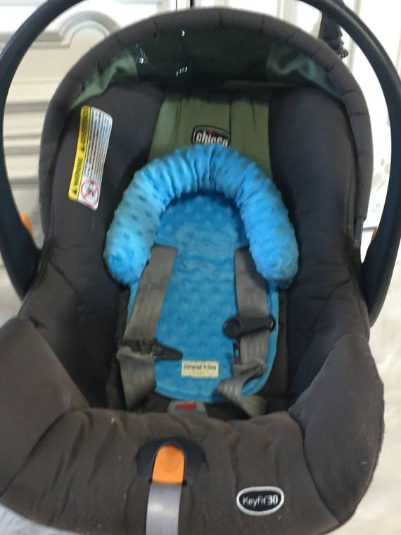 Car seat head support , Bright blue