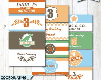 Personalized Radiator Springs Can Oil Labels