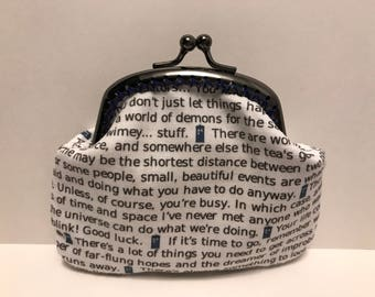 Dr Who Tardis Coin Purse Quotes from The Doctor