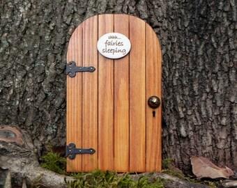 Fairy Door fairy garden miniature wood shhh...fairies sleeping accessories