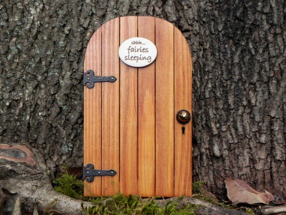 Fairy Door Fairy Garden Miniature Wood Shhh...fairies Sleeping