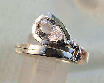 Aziza - Morganite gemstone ring
