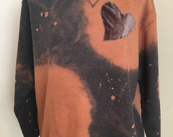 Velvet Heart Bleach Dye Sweatshirt