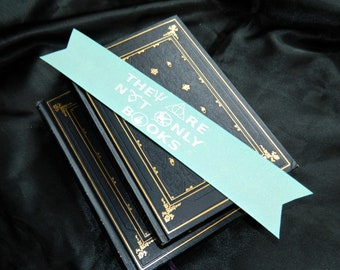 The Are Not Only Books in Sparkle Teal and White Bookmark