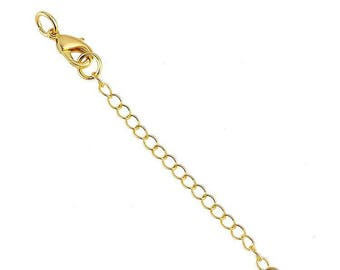 x 1 set gold clasp and safety chain.