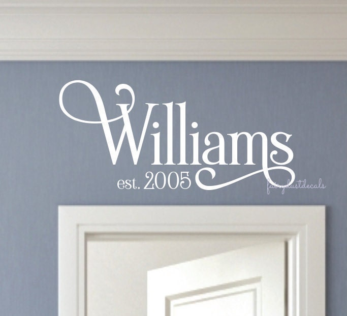 ?zoom & Family last name wall decal name wall decal last name