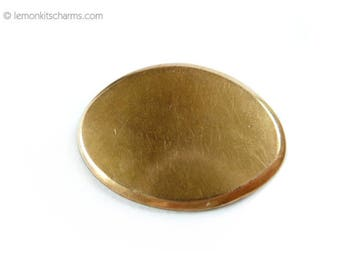 Antique S & S Plain Oval Brooch Pin, Edwardian, Jewelry, Blank, Rosegold, Victorian