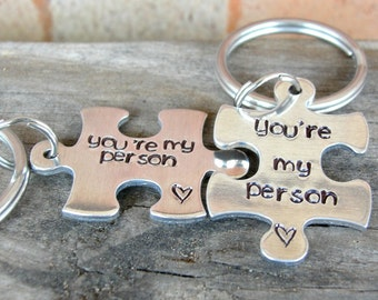 You're My Person - Best Friend Gift - BFF Gifts - Puzzle Keychains - Personalized Gift - Sister's Gifts