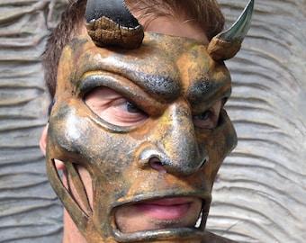 Mask Devil, Face Devil Demon Mask Halloween Mask Rusty Mask Dark Mask Demonic Mask Masquerade Mask Steampunk Face Mask Fetish Mask Dominance