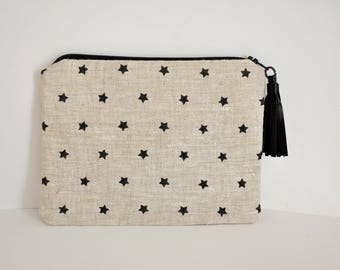 Pouch / clutch with tassel stars