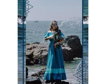 Maxi Summer Dress, Gunne Sax Dress, Off Shoulder Dress,