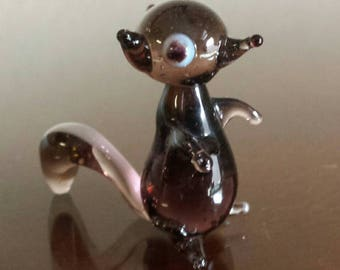 Blown Glass Skunk Cute Cartoon