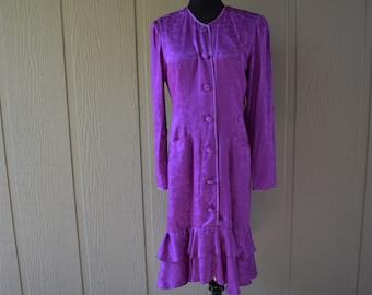 Flora Kung 1980's silk dress