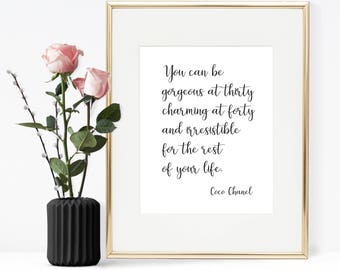 Coco Chanel Quote, Printable Quote, Printable Wall Art