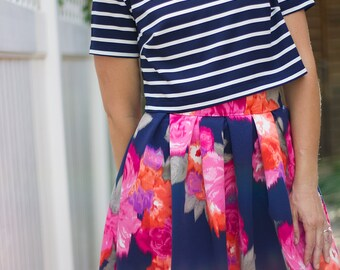 ON SALE - Gigi PDF Sewing Pattern Crop Top Set Womens 0-20
