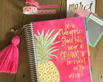 Original Stylish Planner™ Cover Set - Pineapple: For use with Erin Condren Life Planner(TM), Happy Planner and Recollections Planner
