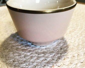 Pink Homer laughlin custard bowls